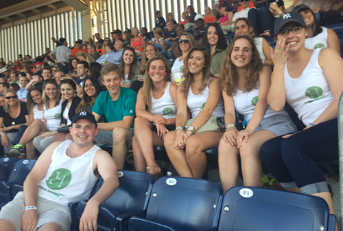 Hawkins staffers at Yankees game Jul. 22