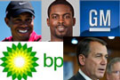 Tiger Woods, Michael Vick, GM, BP, John Boehner