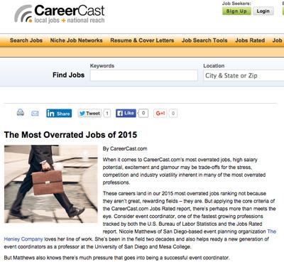 CareerCast website