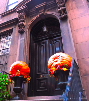 Halloween brownstone