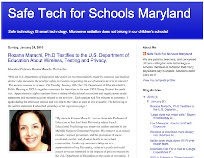 Safe Tech for Schools Maryland