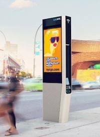Sidewalk WiFi kiosk in NYC