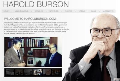 Harold Burson website