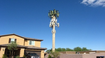 Cell tower near house