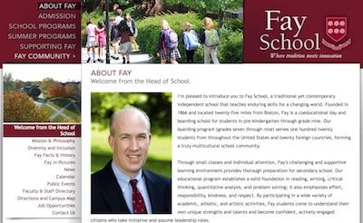 Fay School website