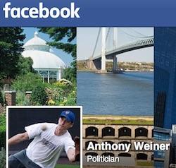 Anthony Weiner's Facebook page