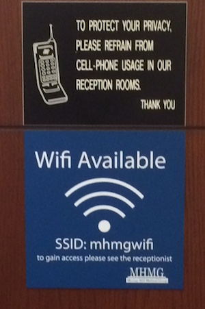 Cellphone/Wi-Fi sign