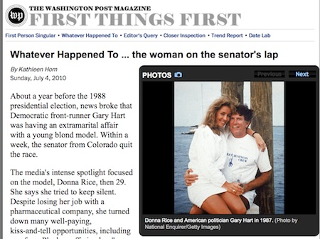 The Washington Post - Donna Rice & Gary Hart