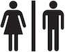Men's & Women's bathrooms symbol