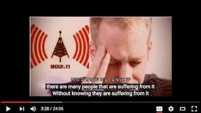 Israeli TV program on dangers of Wi-Fi radiation