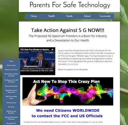 Parents For Safe Technology website