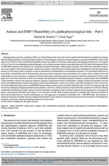 Autism and EMF