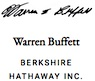 Warren Buffett signature