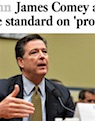 Los Angeles Times story on James Comey and the Clintons