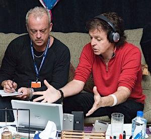 Mark Haefeli with Paul McCartney