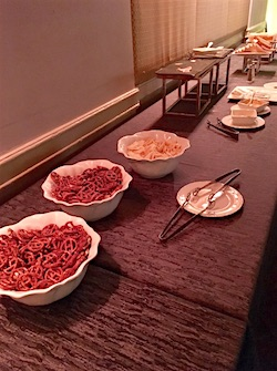 Buffet for reporters