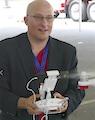 Roger Rosenbaum operates an aerial drone