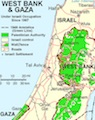 West Bank & Gaza map
