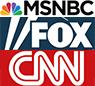 MSNBC, Fox, CNN