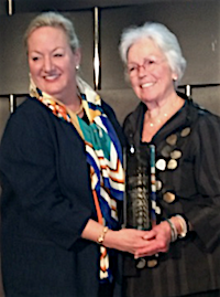 Maril MacDonald presents award to Ann Barkelew