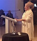 Patrice Tanaka accepts 2017 Paladin Award of the PRSA Foundation