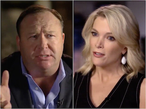 Alex Jones and Megyn Kelly