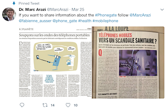 Dr. Marc Arazi tweet on #Phonegate