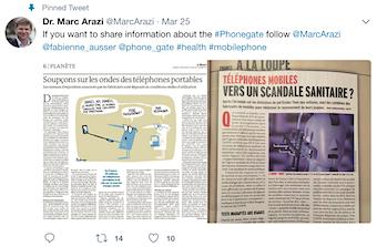Dr. Marc Arazi tweet on #Phonegate