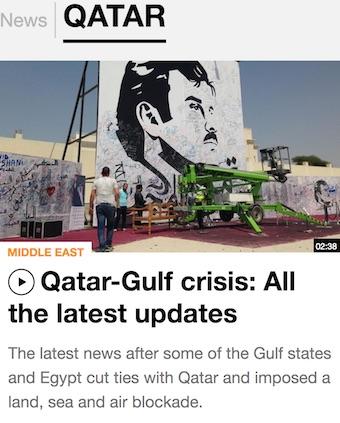Al Jazeera news on Qatar