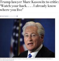 Washington Post article on Marc Kasowitz