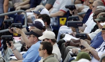 Radar guns at baseball games