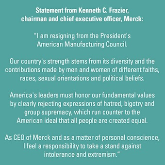 Statement from Ken Frazier, CEO of Merck