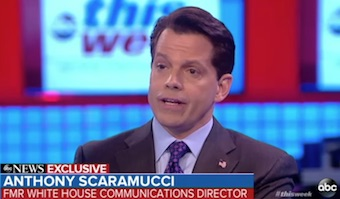 Anthony Scaramucci interview with George Stephanopoulos