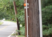 Eruv on telephone pole in Mahway, NJ