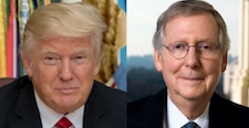 Donald Trump & Mitch McConnell