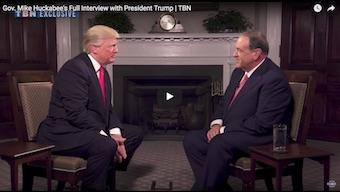 Huckabee interview with Trump