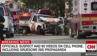 CNN coverage of NYC attack