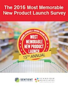 The 2016 Most Memorable New Product Launch Survey
