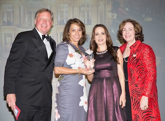 (L to R) Brian Hall of Visit St. Louis (presenter); Alice Diaz of Weber Shandwick; Monica Valdez of Mexico City Tourism Board; Dorothy Dowling of Best Western (presenter)