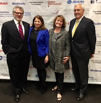 Barry Spector (creative director at Spector & Associates), Shelley Spector (President, Spector Corporate Communications/Founder & Director of Museum of Public Relations) , Jane Landers (me) and Dick Martin (Former exec. VP, PR & brand management at At&T)