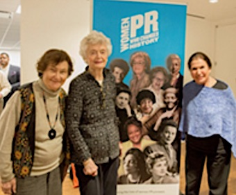 (L to R) Saralie Slonsky, Barbara Hunter, Muriel Fox