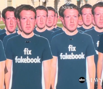 Mark Zuckerberg cutouts in front of Capitol
