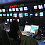 TV newsroom control center