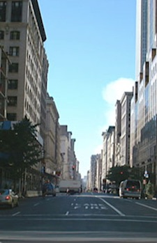 View down 5th Ave., Sep. 12, 2001