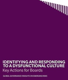 Marsh & McClennan study - Identifying and Responding to a Dysfunctional Culture: Key Actions for Boards