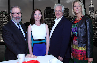 (L to R) Gil Bashe, managing partner, leading FINN's global health practice; Kristie Kuhl, managing partner, FINN Health; Peter Finn, founding partner, FINN Partners, and Fern Lazar, CEO, Lazar Partners.