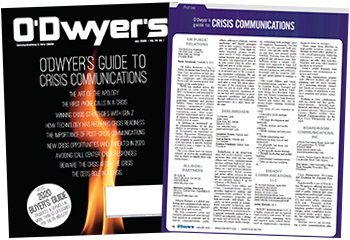 O'Dwyer's Jan. '20 Crisis Communications & PR Buyer's Guide Double Issue