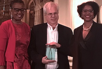 (From L to R): Arva R. Rice, President and CEO, the New York Urban League; Peter Finn, founding partner, FINN Partners; and Jeanine Conley, Chair of the New York Urban League Board.