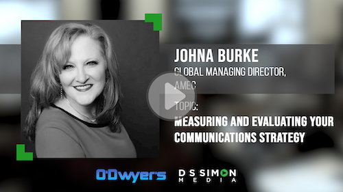 O'Dwyer's/DS Simon Video Interview Series: John Burke, Global Managing Director, AMEC