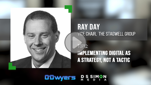 O'Dwyer's/DS Simon Video Interview Series: Ray Day, Vice Chair, The Stagwell Group